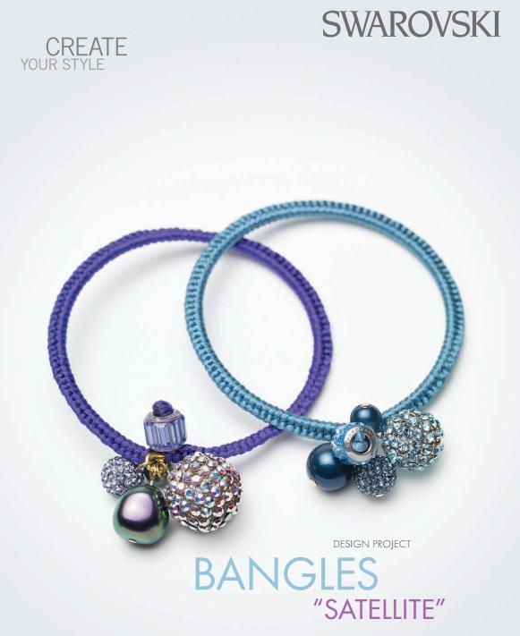 883276efafd661 DIY Swarovski Crystal Bangle Bracelets Free Design and Instructions