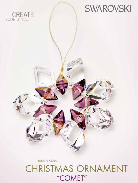 diy swarovski christmas ornament free design and instructions - Crystal Christmas Decorations